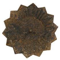 Kynttilänpidin tikkuun Ø11cm H8cm Rust Effect