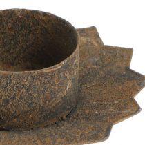 Plug-in-kynttilänjalka Ø9cm L8.5cm ruskea