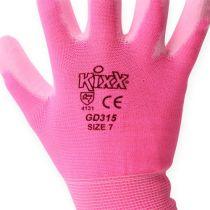 Kixx Puutarhakäsineet koko 7 Vaaleanpunainen, Vaaleanpunainen