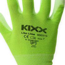 Kixx Nylon puutarhakäsineet koko 8 vaaleanvihreä, Lime