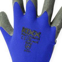 Kixx nailon puutarhakäsineet koko 8 sininen, musta