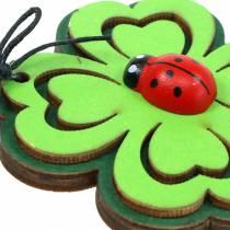 Shamrock kovakuoriaisella ripustettavaksi vihreänä 7cm 6kpl