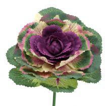 Keinotekoinen koristekaali violetti, vihreä 25cm 6kpl 6kpl