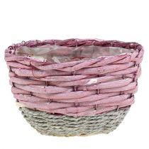 Kori pyöreä 3 kpl Ø14cm - 24cm vaaleanpunainen, luonnollinen