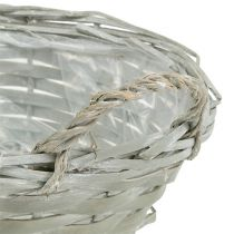 Pyöreä kori harmaa Ø24cm K10cm 1kpl