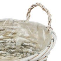 Kasvikori pyöreä valkoinen pesty Ø 26,5cm