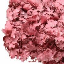 Tammenlehtien seppele vaaleanpunainen vahattu Ø38cm