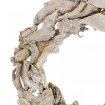 Puuseppele Juuret ja oksat Valkoinen pesty koristeellinen seppele Ø40cm K9cm