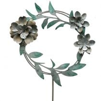Puutarhatulppa kukkaseppele metallia H63cm
