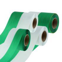 Seppeleet Moiré vihreä-valkoinen vers. Leveydet 25m