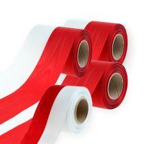 Seppeleiden nauhat moiré valkoinen-punainen