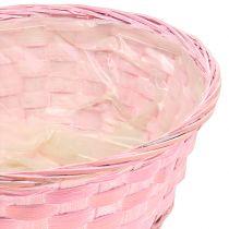 Sirukori pyöreä violetti / valkoinen / vaaleanpunainen Ø25cm 6kpl