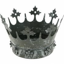 Pöydän koriste, Koristeellinen kruunu, Kukkainen metallinen lyhty, Kukkapannu, Metalli koriste, Metalli koristeena