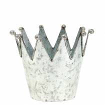 Koristeellinen ruukun kruunu metalli hopea Ø13,5cm K11,5cm 2kpl