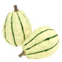 Koristeellinen kurpitsa kerma, vihreä 11cm 6kpl