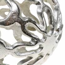 Koristeellinen pallo harjattua metallihopeaa Ø15cm