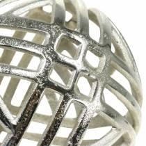 Koristeellinen pallo harjattua metallihopeaa Ø20cm