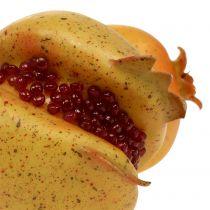 Keinotekoinen hedelmagranaattiomena siemenillä Ø6cm - Ø7cm L18cm