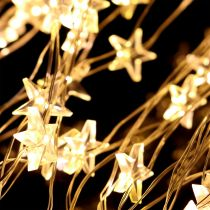 LED-valopaketti tähti ulkopuolelle 320 1m hopea / lämmin valkoinen