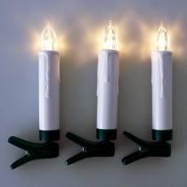 LED-puukynttilät 10cm lämpimänvalkoiset kaukosäätimellä 10kpl
