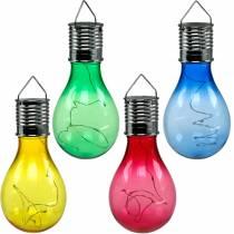 Puutarhan sisustus aurinko LED-lamppu valikoituja 15cm 4kpl
