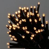 LED-valoketju 144 musta, lämmin valkoinen ulkokäyttöön 1,2 m