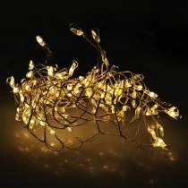 LED-valoketju lämmin valkoinen hopea 100cm 100L akulle