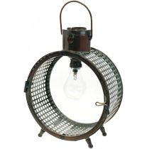 Aurinkolamppu Metallivalo Parveke Deco Industrial Design Ø23cm