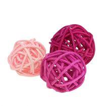 Lataball-valikoima 3cm vaaleanpunainen / vaaleanpunainen / lila 72kpl