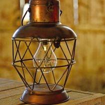 Aurinkolamppu, LED-riippuvalaisin Industrial Look Ø16cm H32cm