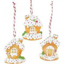Rapeat talot joulukuusen koristelu piparkakkutalo H9cm 3kpl 3kpl