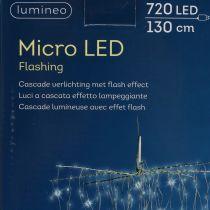 Kevyt kaskadi Micro-LED viileä valkoinen 720 H130cm