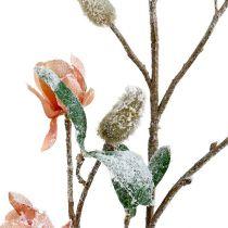 Magnolia-haara vaaleanpunainen L 82cm