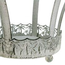 Metallinen kruunu koristeeksi Ø20,5cm K26cm