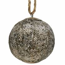 Metallipallo antiikki ripustettavaksi Ø13,5cm