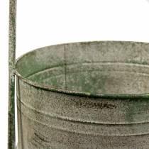 Metalliteline istutuskoneilla harmaa, vihreä H68cm