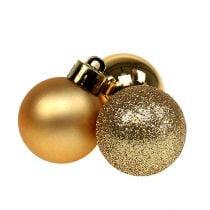 Mini joulupallo kultainen Ø3cm 14kpl