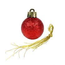 Mini joulupallo punainen Ø3cm 14kpl