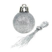 Mini joulupallo hopea Ø3cm 14kpl