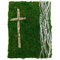 Sammal Kuva Viiniköynnökset ja risti haudan järjestelyyn Vihreä, Valkoinen 40×30cm