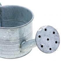 Kastelukannu Galvanoitu harmaa, valkoinen pesty H10cm