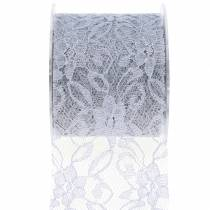 Pitsinauha koristeellinen nauha harmaa 70mm 15m