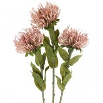 Syksy Kukka Pincushion keinotekoinen Protea Rosa Leucospermum 73cm 3kpl 3kpl