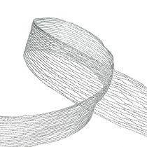 Verkkonauha hopealangalla vahvistettu 40mm 15m