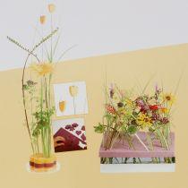 Kukkainen vaahtomuovisuunnittelupaneeli, laajennuskoko keltainen 34,5 cm × 34,5 cm 3 kpl