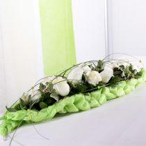 Kukkainen vaahtotiilipöytäkoriste vihreä 22cm x 7cm x 5cm 10kpl