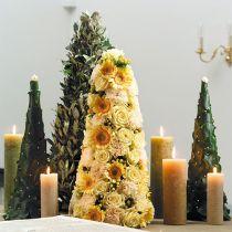 Kukkainen vaahtokartio vihreä K60cm Ø18cm 1kpl