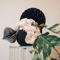 Kukka vaahtopallo, musta Ø20cm
