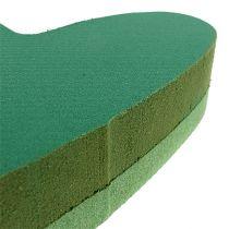 Pistokkeen kokoinen sydämen kukka vaahto vihreä 24cm x 25cm 2kpl