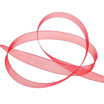 Organzanauha nauhalla 1,5cm 50m punainen